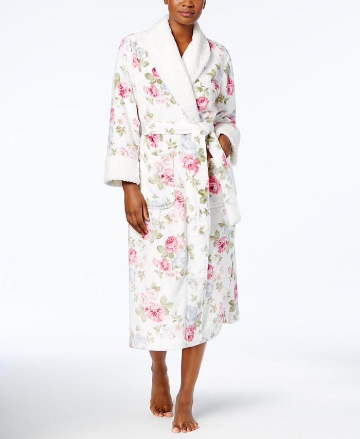 Charter Club - Long Printed Contrast Robe