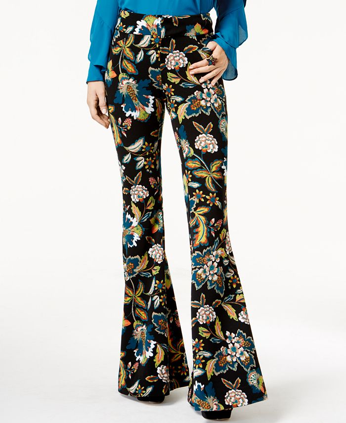 INC International Concepts - Petite Printed Flared Pants