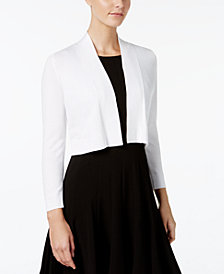 Calvin Klein Cropped Open-Front Cardigan