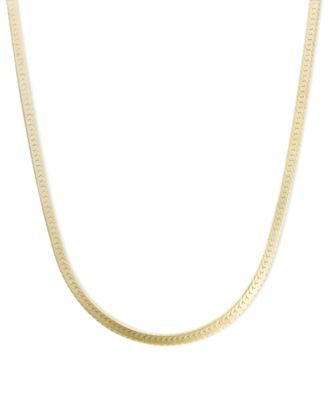 "14k Gold and 14k White Gold Necklaces, 18-24"" Flat ..."