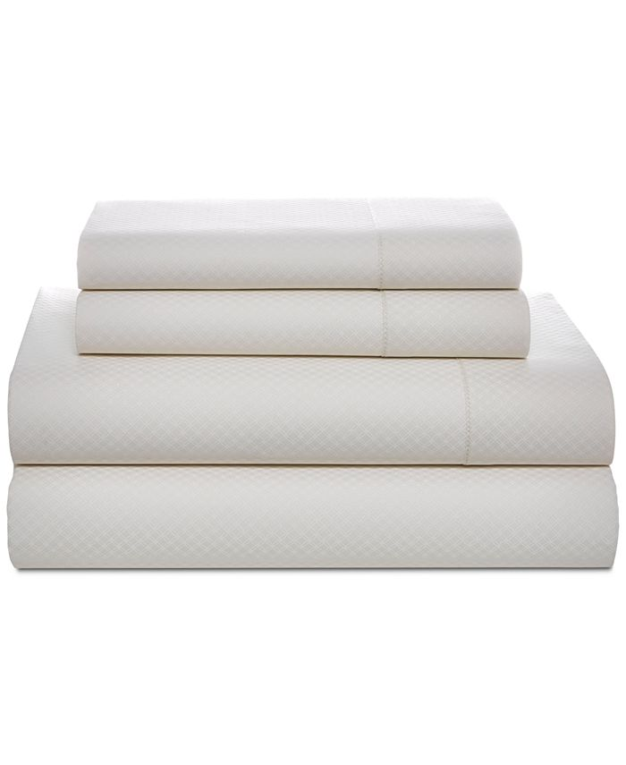Tommy Hilfiger - Painted Lattice Cotton 200-Thread Count 4-Pc. Full Sheet Set