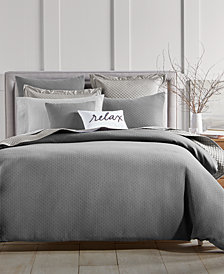 Charter Club Damask Designs Diamond Dot Cotton 300-Thread Count 2-Pc. Twin Duvet Cover Set, Created for Macy's