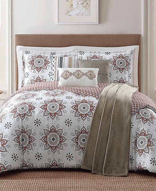 Jennifer Adams Home Maywood Reversible 7-Pc. Printed King Comforter Set