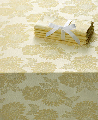 Homewear Table Linens, Dinner Party Medley Yellow Collection ...