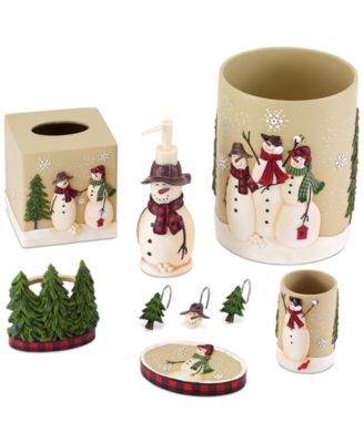 Snowman Gathering Toothbrush Holder