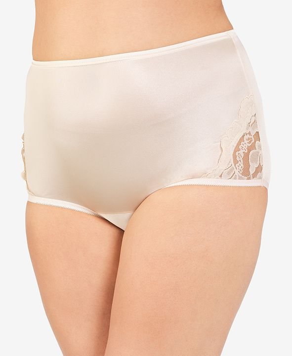 Vanity Fair Perfectly Yours® Lace Nouveau Nylon Brief Underwear 13001, extended sizes available