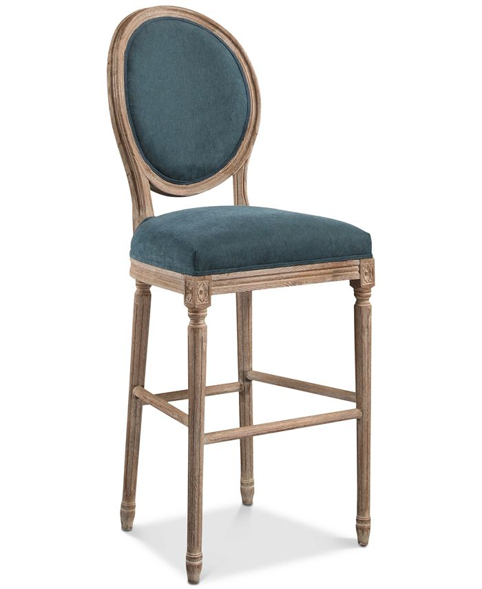 Abbyson Living - Nadia Round Back Barstool, Quick Ship