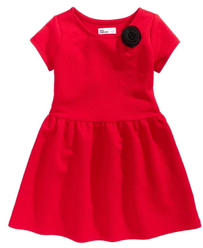 Epic Threads - Quilted-Look Fit & Flare Dress, Toddler Girls (2T-5T) & Little Girls (2-6X)