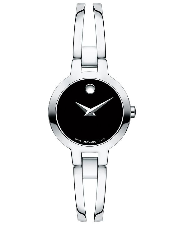 Movado Women's Swiss Amorosa Stainless Steel Bangle Bracelet Watch 24mm