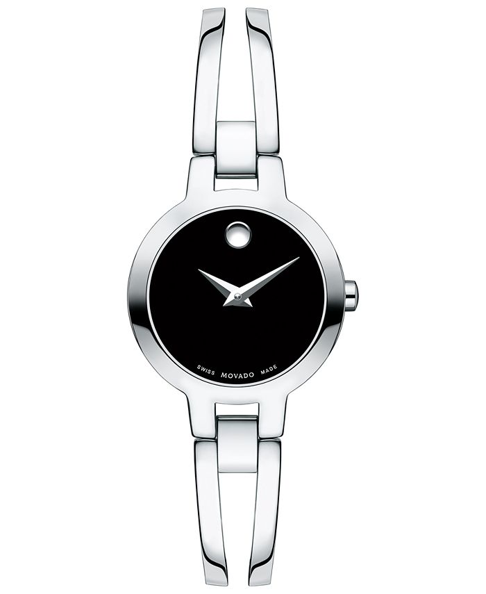 Movado - Women's Swiss Amorosa Stainless Steel Bangle Bracelet Watch 24mm