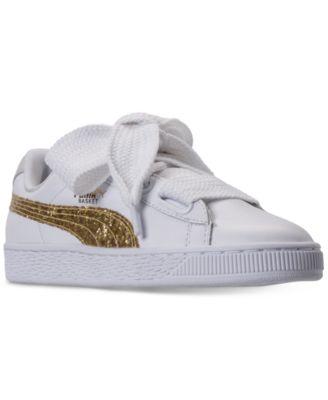 Basket Heart Glitter Casual Sneakers