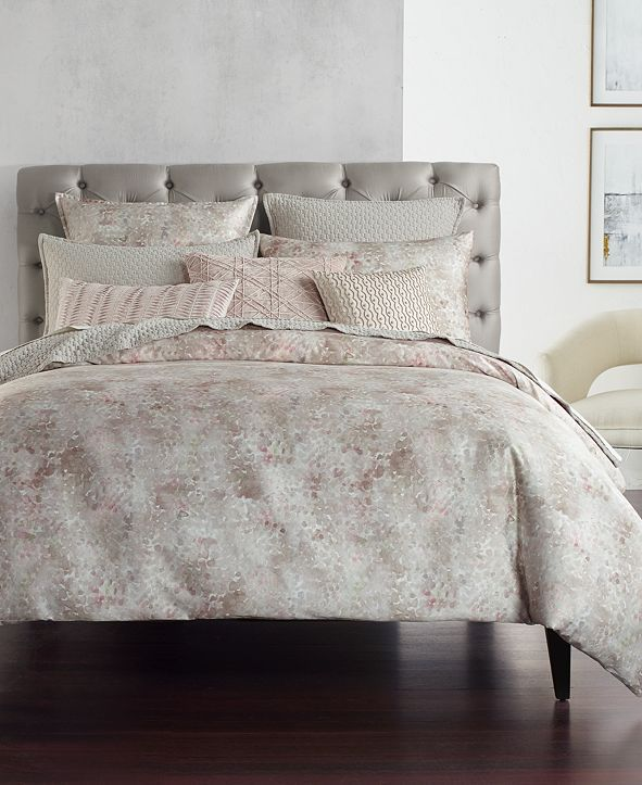 Hotel Collection Speckle Cotton Printed Twin Duvet Cover, Created for Macy's