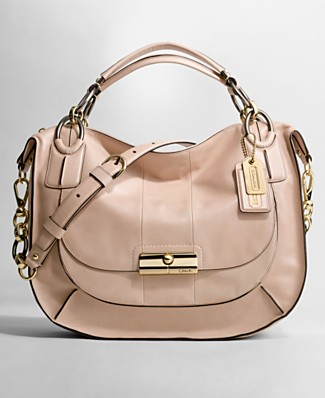 COACH KRISTIN ELEVATED LEATHER SAGE ROUND SATCHEL - Satchels - Handbags & Accessories  - Macy's from macys.com