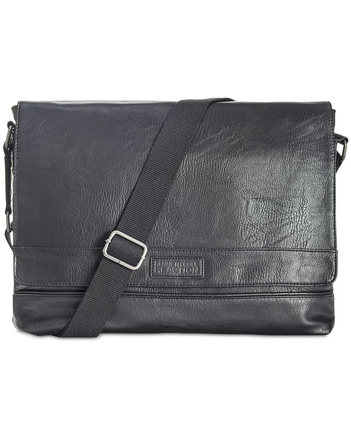 Kenneth Cole Reaction - Men's Pebbled Messenger Bag