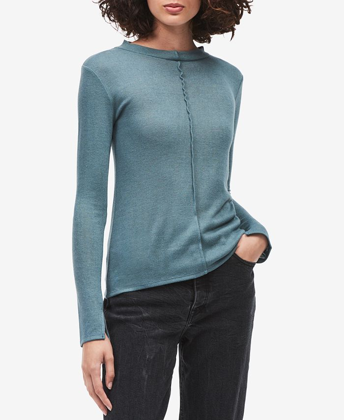 Calvin Klein Jeans - Long-Sleeve Seam-Detail Sweater