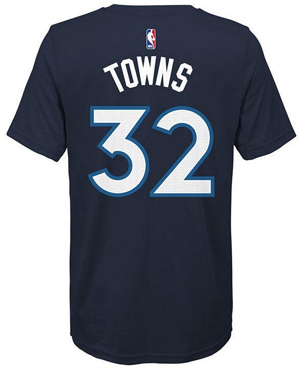 Nike Karl-Anthony Towns Minnesota Timberwolves Icon Name & Number T-Shirt, Big Boys (8-20)