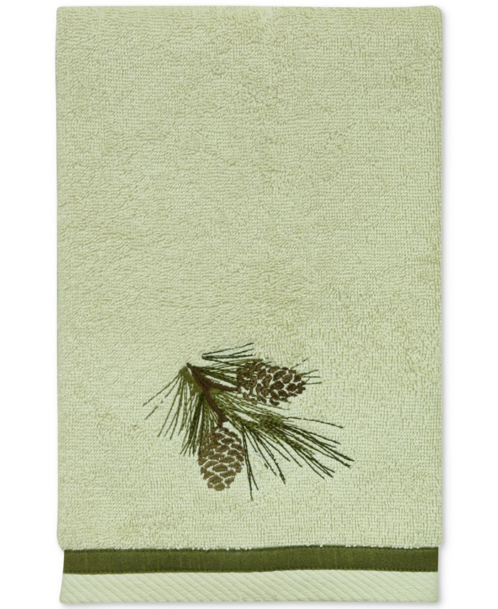 Bacova - Pinecone Silhouettes Cotton Embroidered Hand Towel