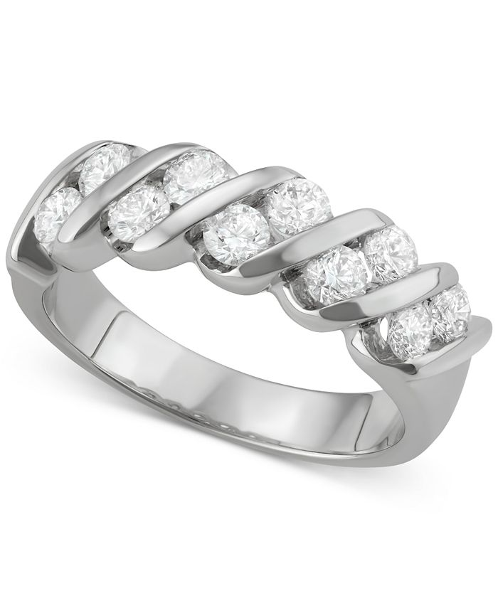 Macy's - Diamond Diagonal Band (1 ct. t.w.) in 14k White Gold