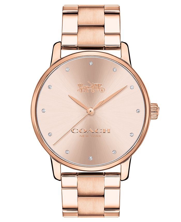 COACH - Women's Grand Rose Gold-Tone Stainless Steel 36mm