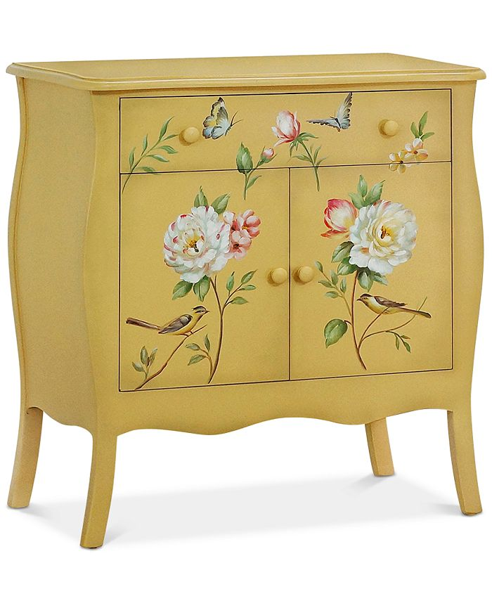 Gallerie Décor - Floral Gardens Cabinet, Quick Ship