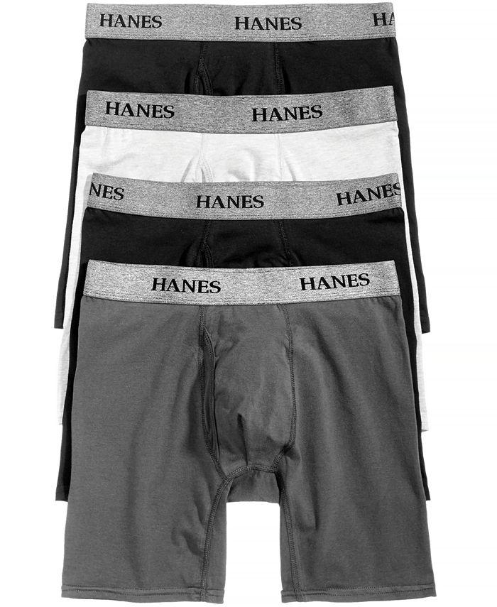 Hanes - Men's 4-Pk. Platinum Stretch Boxer Briefs