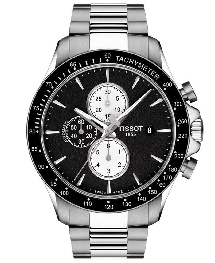 Tissot - Men's Swiss Automatic Chronograph T-Sport V8 Stainless Steel Bracelet Watch 45mm