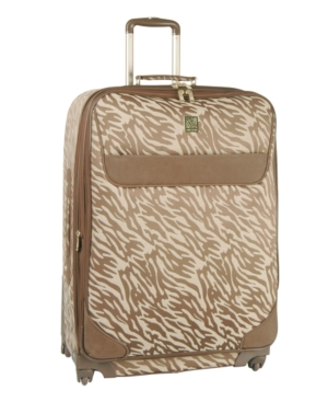 "Anne Klein Suitcase, 24"" Lion's Mane Rolling Spinner Upright"