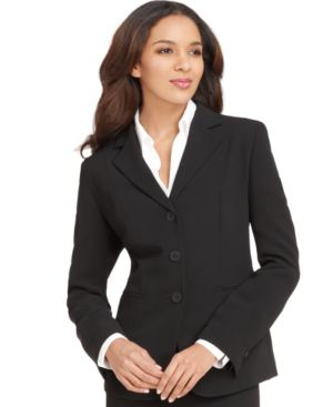 Jones New York Jacket, Devon Three Button Blazer, Black