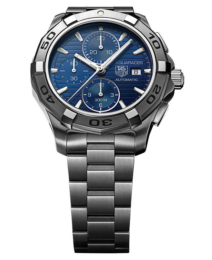 TAG Heuer - Men's Swiss Automatic Chronograph Aquaracer Stainless Steel Bracelet Watch 44mm CAP2112.BA0833