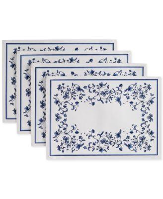 Blue Portofino 4-Pc. Placemat Set