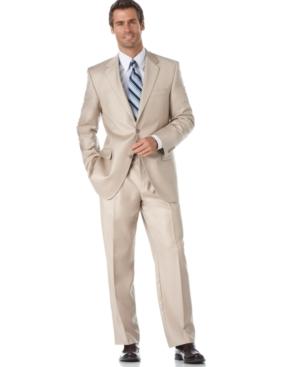Alfani Suit, Tan Solid