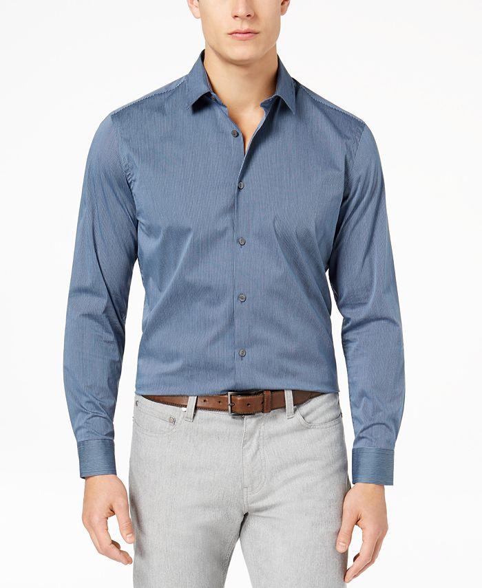 Alfani - Men's Modern Striped Shirt