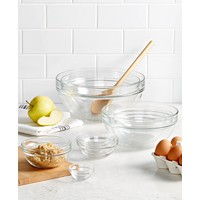 Martha Stewart Collection 10-Pieces Glass Mixing Bowl Set
