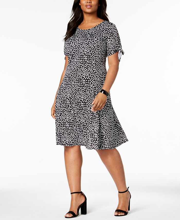 NY Collection - Plus Size Printed A-Line Dress