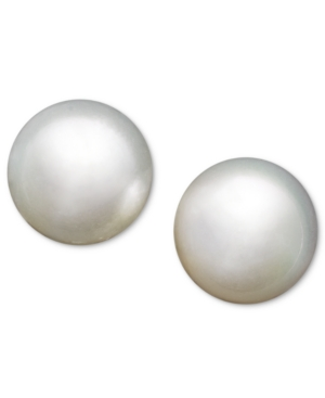 Pearl Earrings, 14k White Gold Cultured South Sea Pearl Stud Earrings (12mm)