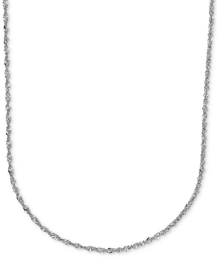 Italian Gold - Perfectina Chain Necklace in 14k White Gold