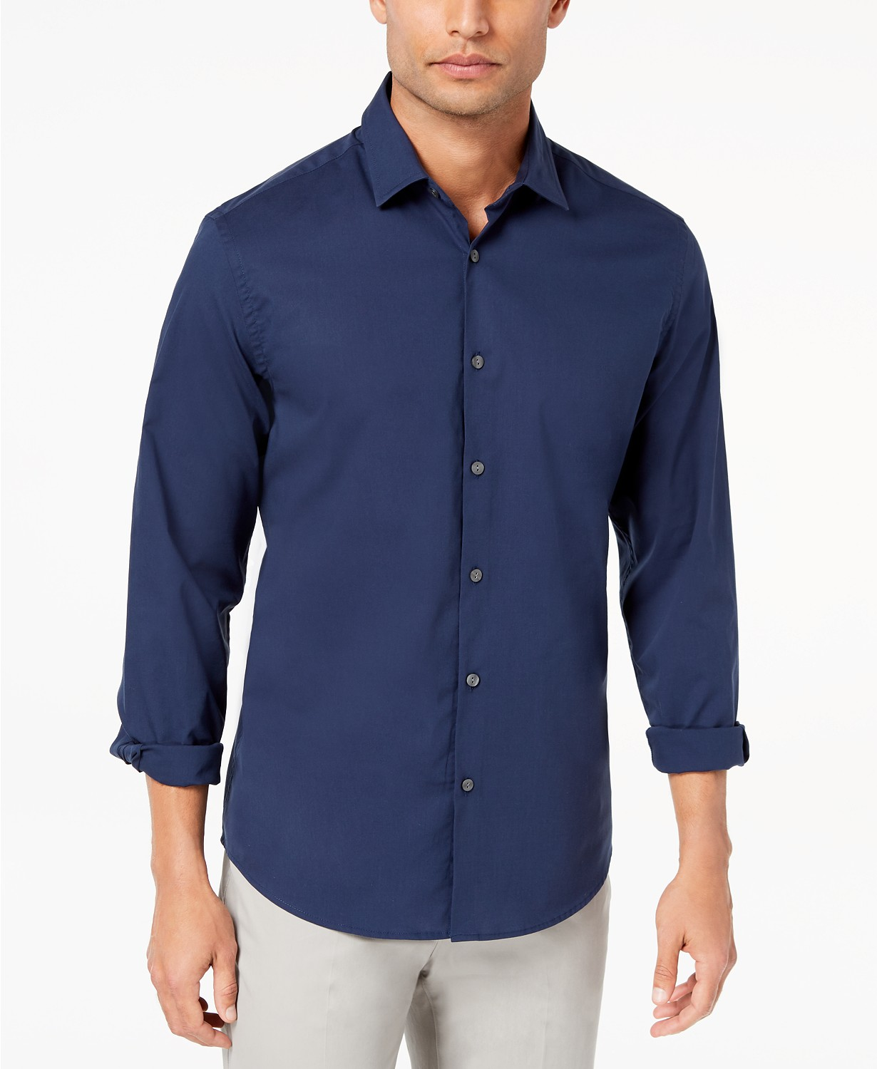Alfani Men?s Stretch Modern Solid Shirt, Created for Macy's