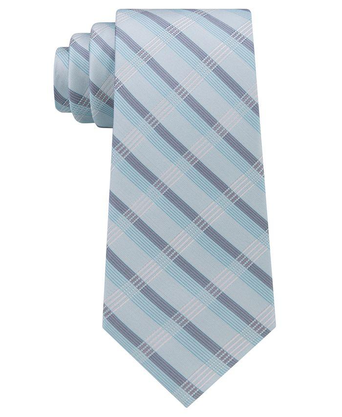 Calvin Klein - Men's Crème Plaid Tie