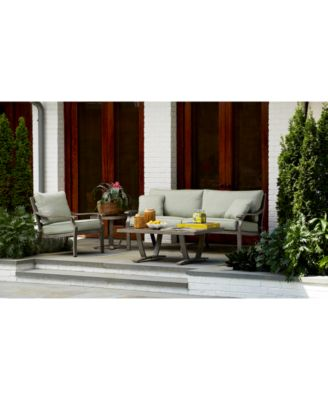 Tara Aluminum Outdoor 3-Pc. Seating Set (1 Sofa & 2 Club Chairs), with Sunbrella® Cushions, Created for Macy's