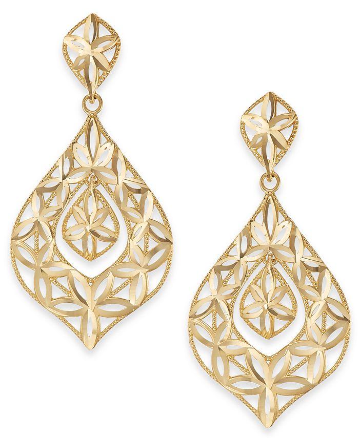Macy's - Openwork Dangle Drop Earrings in 14k Gold