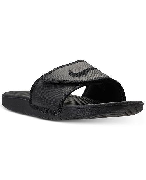Nike Men's Kawa Adjustable Slide Sandals from Finish Line ...