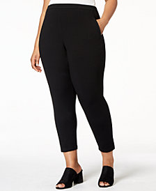 Eileen Fisher SYSTEM Plus Size Stretch Jersey Pull-On Pants