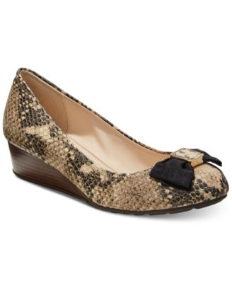 Cole Haan Tali Grand Bow Wedge Pumps