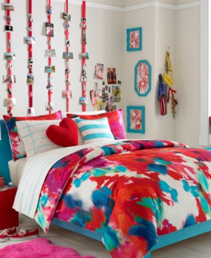 Teen Vogue Bedding, Poppy Art Floral Decorative Pillow Pack Bedding