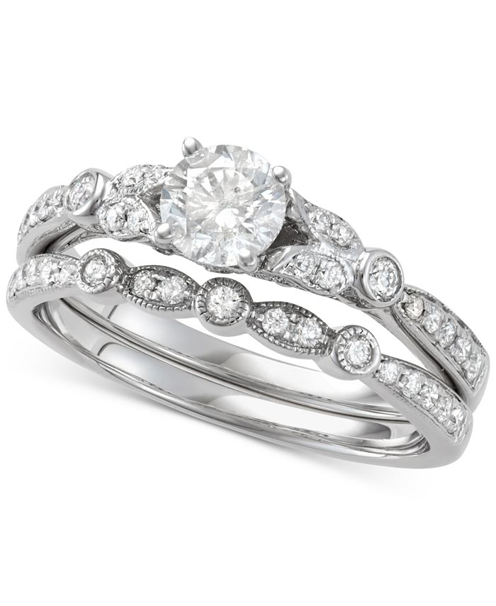 Macy's - Diamond Bridal Set (1 ct. t.w.) in 14k White Gold
