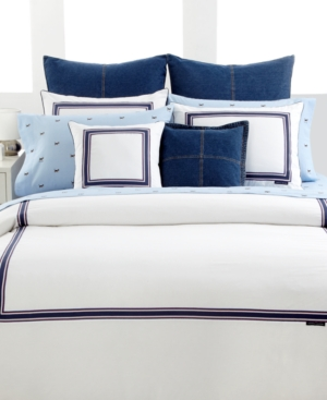 Tommy Hilfiger Bedding, White Oxford Twin Duvet Cover Bedding