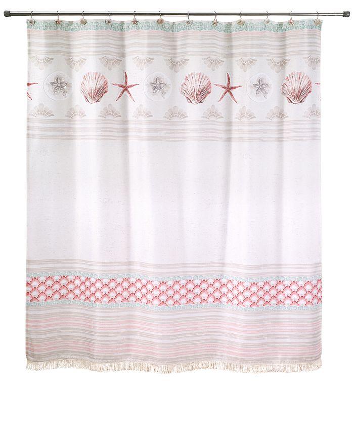 "Avanti - Coronado 72"" x 72"" Graphic-Print Appliqué Shower Curtain"