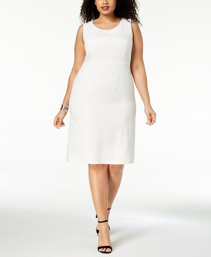 Kasper - Plus Size Crepe Sheath Dress