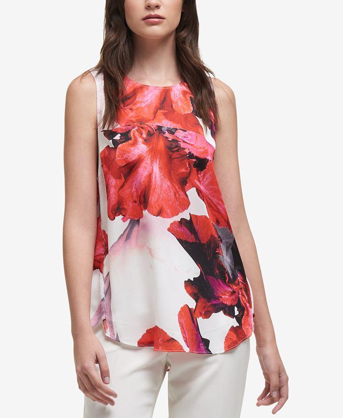 DKNY - Floral-Print Top