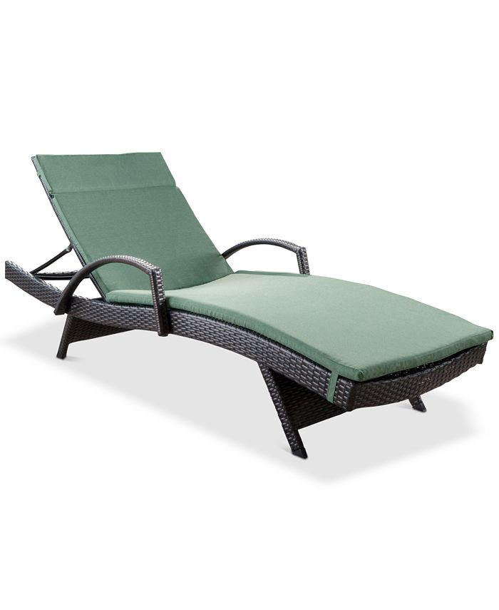 Noble House - Tempe Outdoor Chaise Lounge, Quick Ship